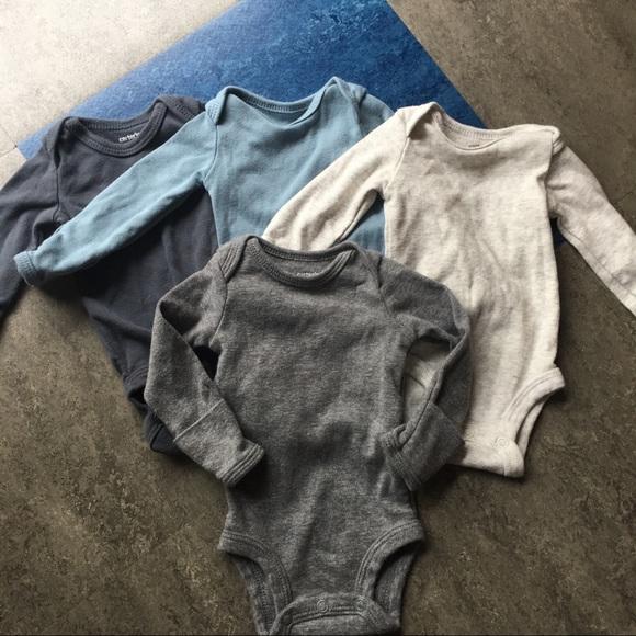 40f73b9a9 Carter's One Pieces | Mitten Cuff Long Sleeve Bodysuits | Poshmark